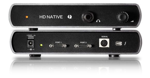 HD Native Thunderbolt box front and rear.