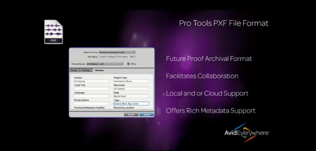 Pro Tools new PXF file format for collaboration.