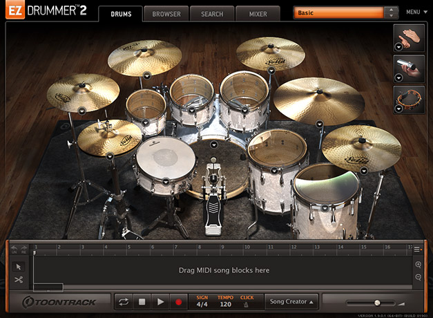Ezdrummer 2 main interface
