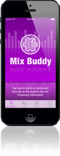 Mix Buddy home screen on iPhone 5