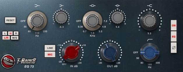 IK Multimedia EQ 73 plug-in for T-Racks Custom Shop