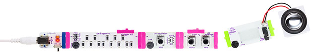 Korg littlebits synth kit module chain