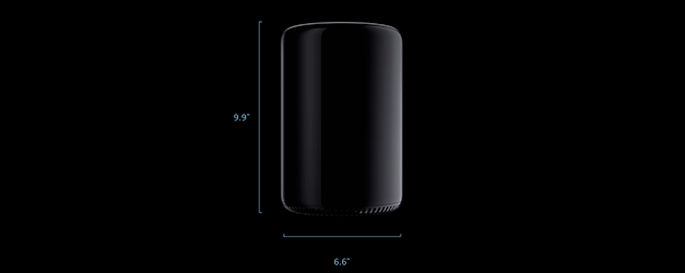 New Mac Pro 2013 size