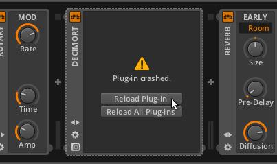 Plug-in sandboxing Bitwig Studio