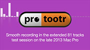 Pro Tools test session on Mac Pro late 2013 with 81 tracks